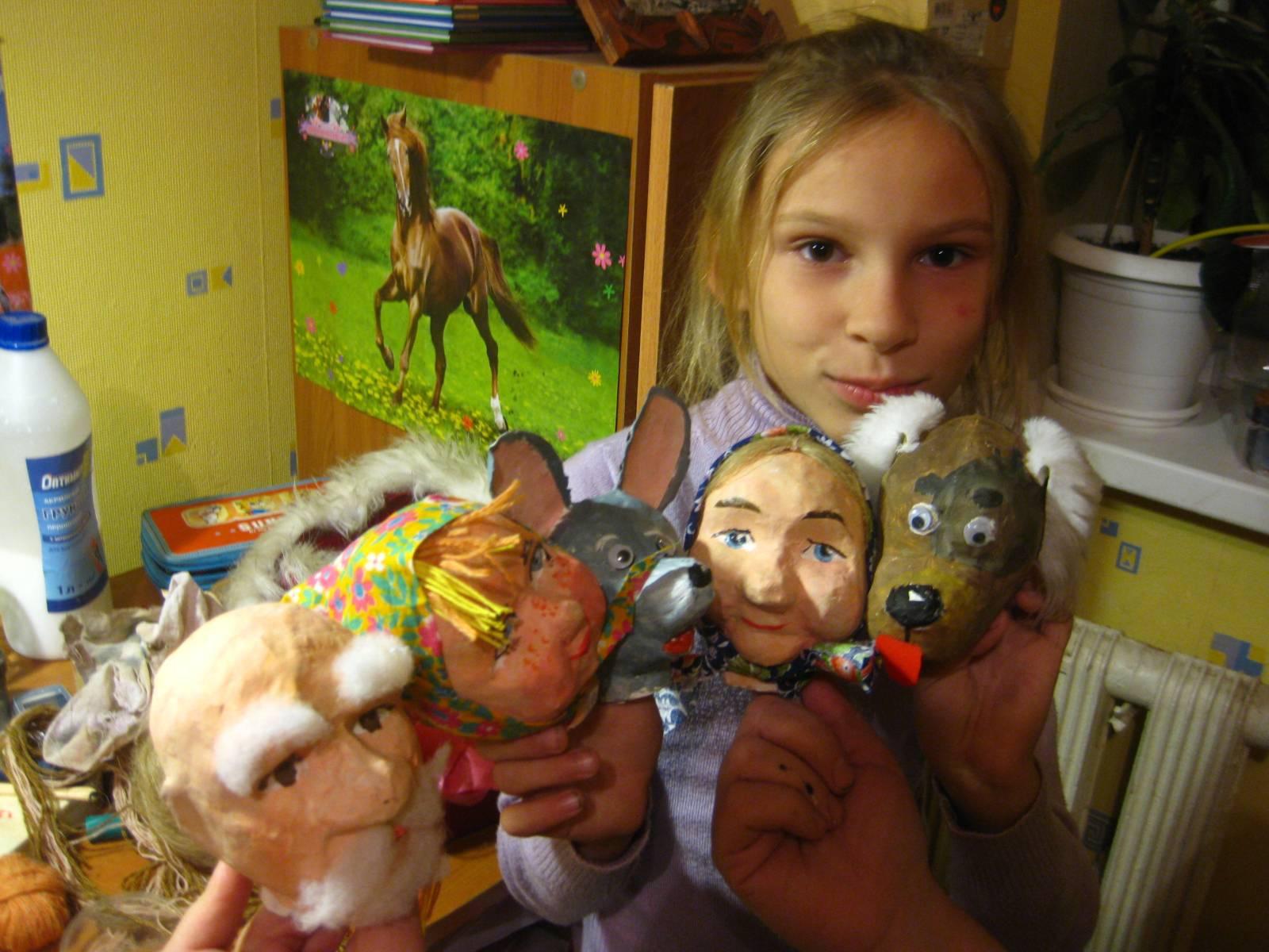Куклы из папье-маше для кукольного театра своими руками